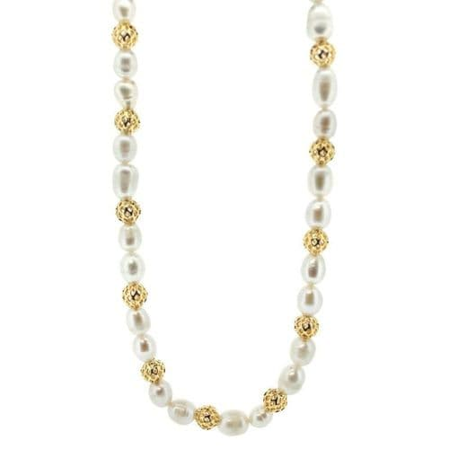 Outlander Inspired Gold Plated Scottish Necklace - Baroque Fresh Water Pearls